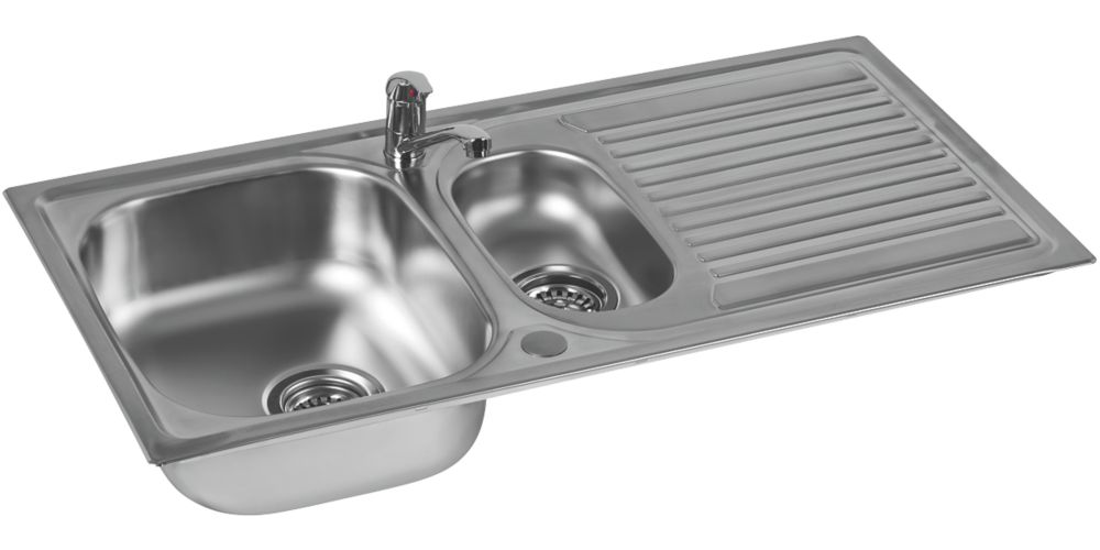 Astracast Aegean Stainless Steel Sink & Tap Pack 1.5 Bowl 965 x 500mm