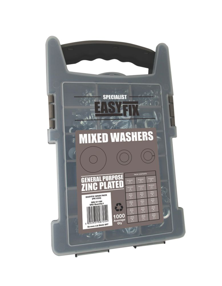 Easyfix  Mixed Washers Pack 1000 Piece Set