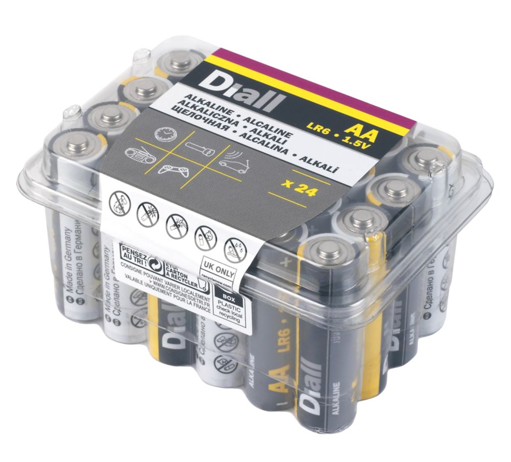 Diall  AA Batteries 24 Pack