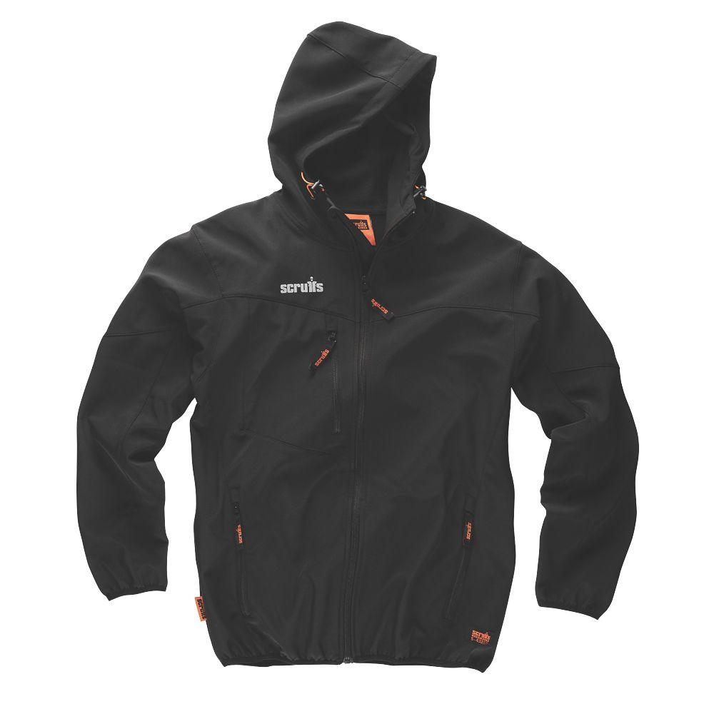 """Scruffs T54851 Worker Softshell Jacket Black Medium 44"""" Chest"""