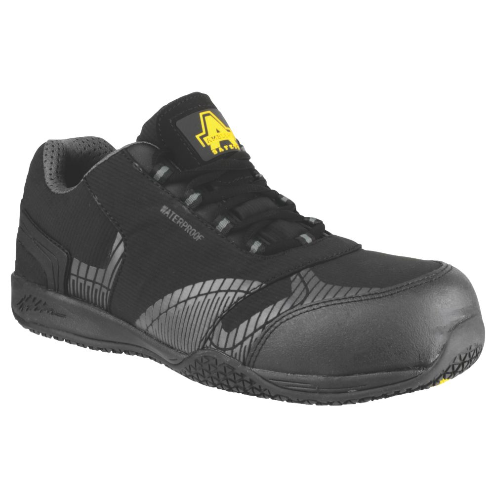 Amblers FS29C Metal Free  Safety Trainers Black / Grey Size 12