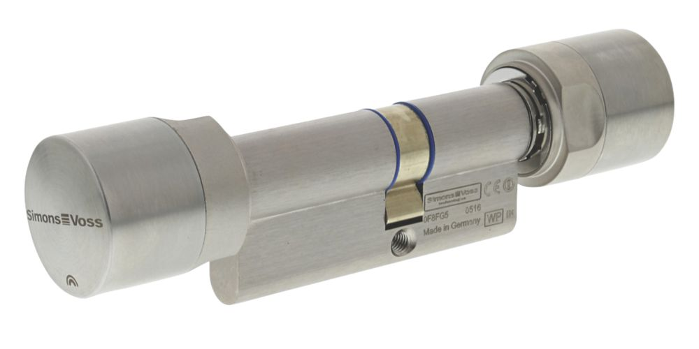 SimonsVoss Digital Euro Profile Cylinder Double-Thumbturn Lock 40-30 (70mm) Satin Stainless Steel