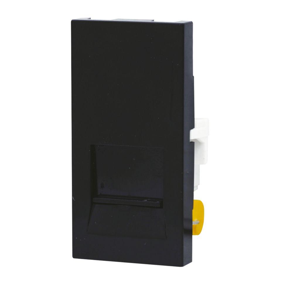 LAP 1-Gang Slave Telephone Grid Module Black