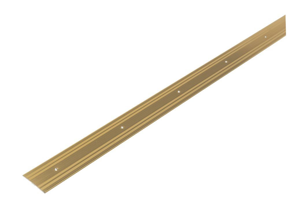 Extra Wide Carpet Cover Door Strip Gold Effect 0.9m x 61mm