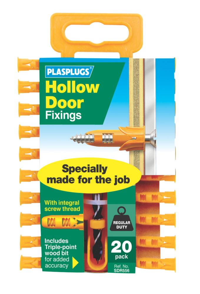 Plasplugs  Hollow Door Fixings 6 x 23mm 20 Pack