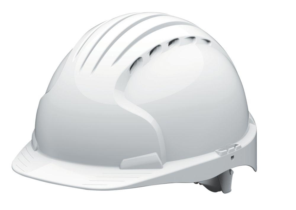 JSP EVO5 Olympus Non Vented Safety Helmet White