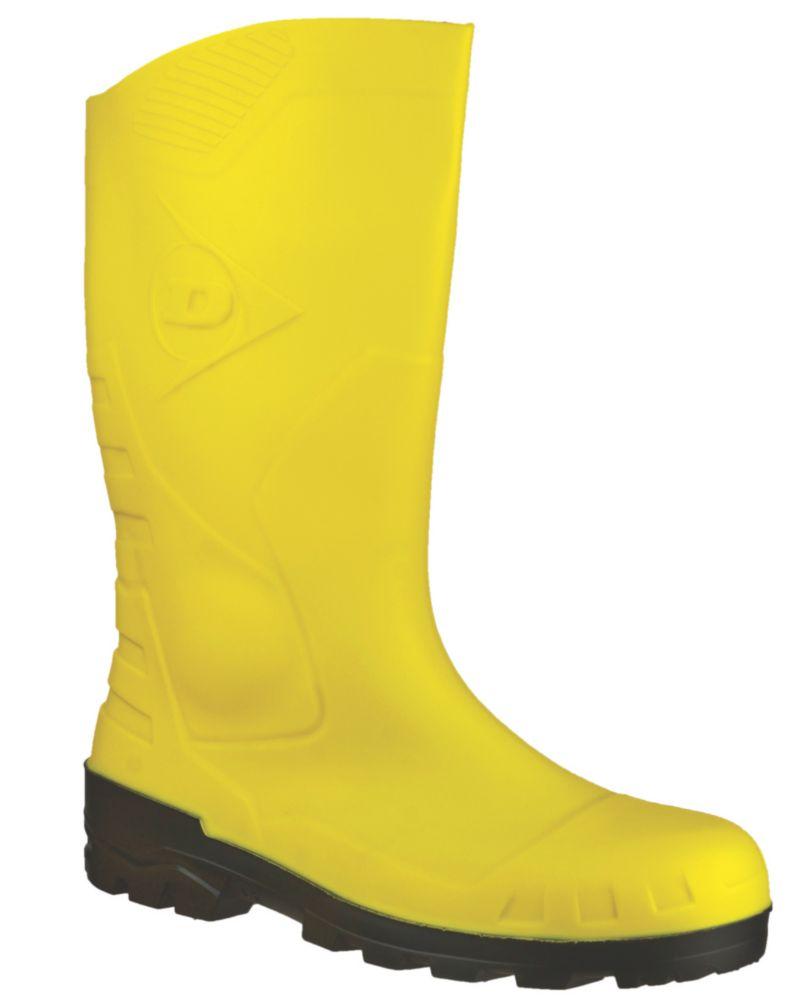 Dunlop Devon H142211   Safety Wellies Yellow Size 12