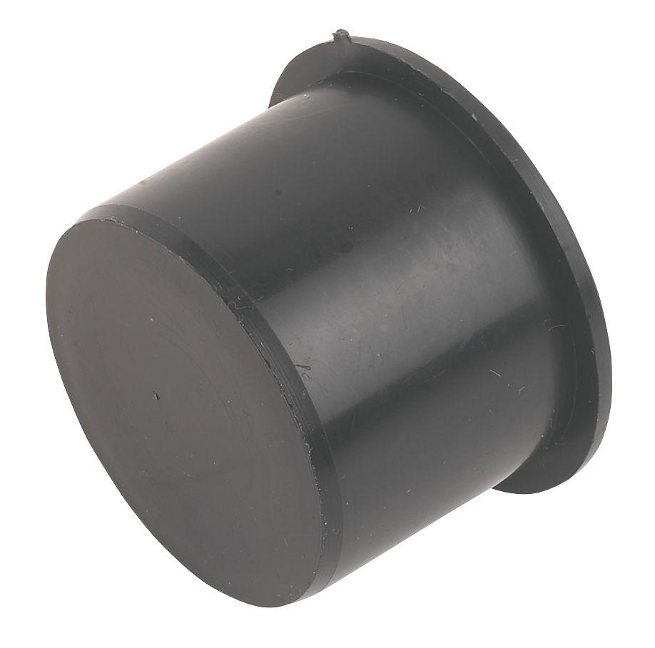 FloPlast Push-Fit Socket Plug Black 40mm