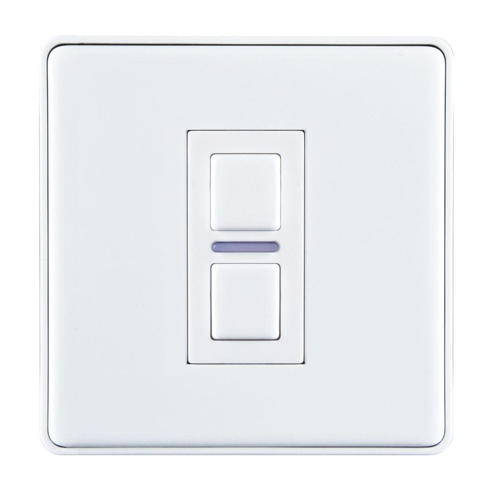 Lightwave  1-Gang 2-Way LED Smart Dimmer Switch White