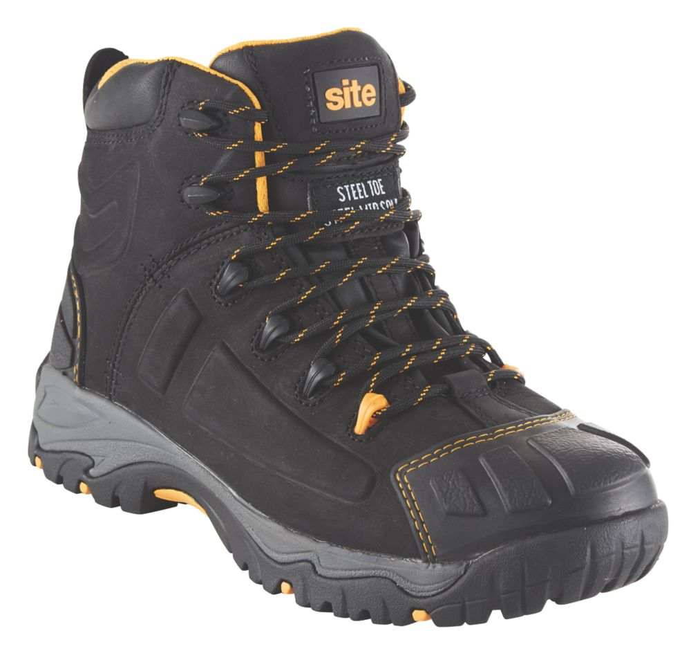 Site Fortress   Safety Boots Black Size 12