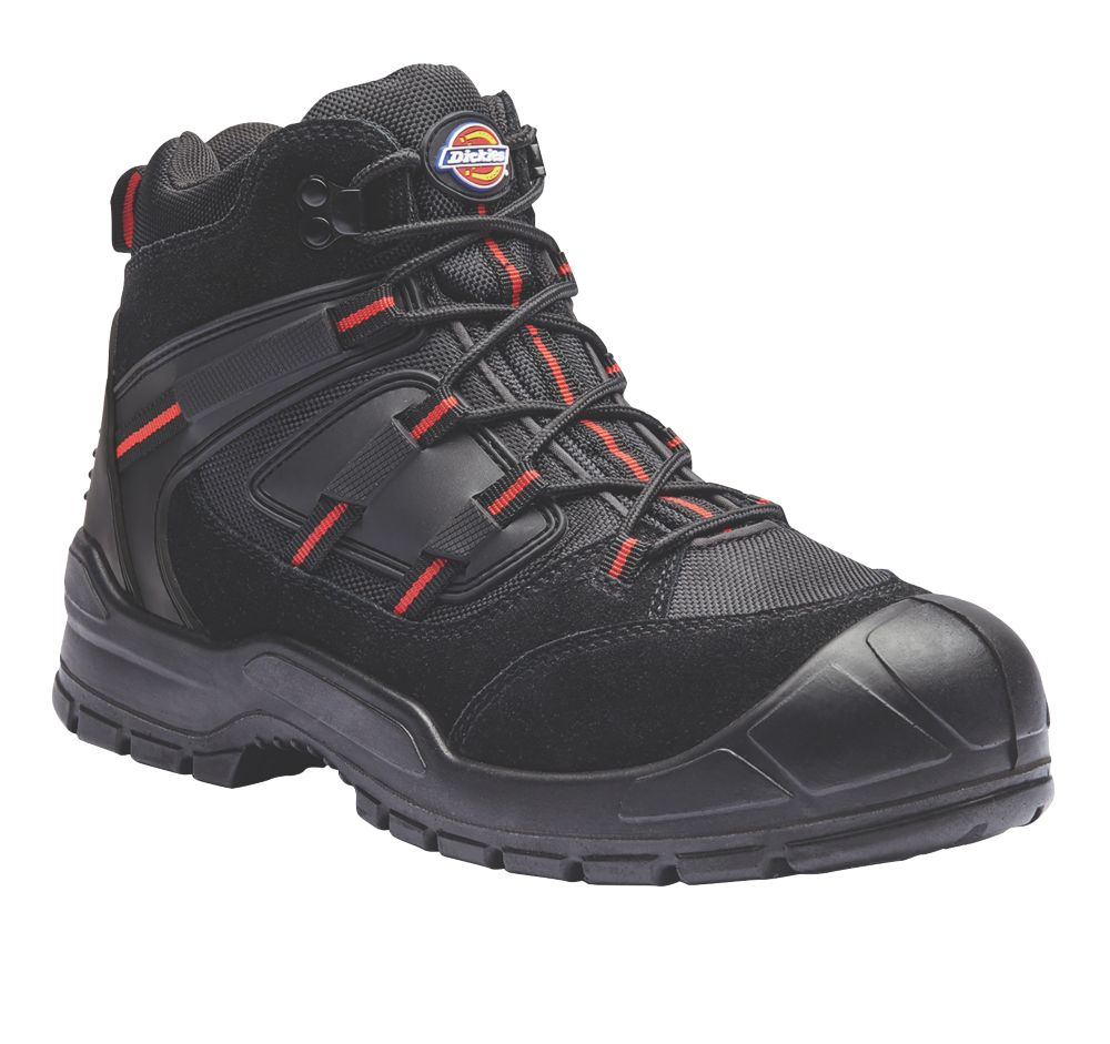 Dickies Everyday   Safety Trainer Boots Black / Red Size 11