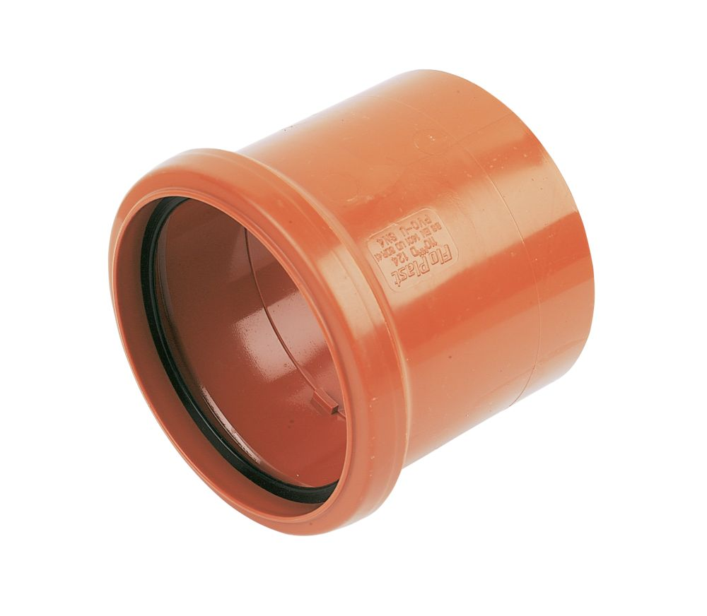 FloPlast Underground Pipe Coupling Single Socket 110mm