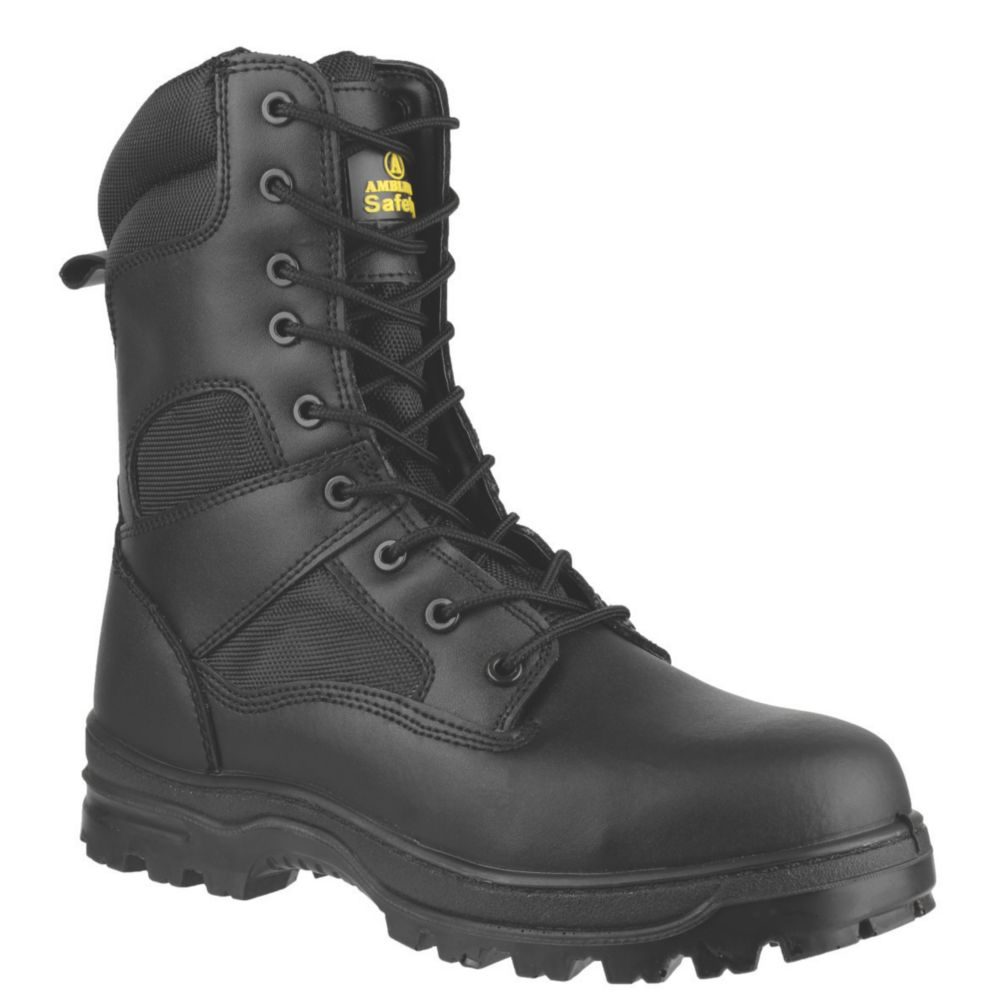 Amblers FS009C Metal Free  Safety Boots Black Size 4