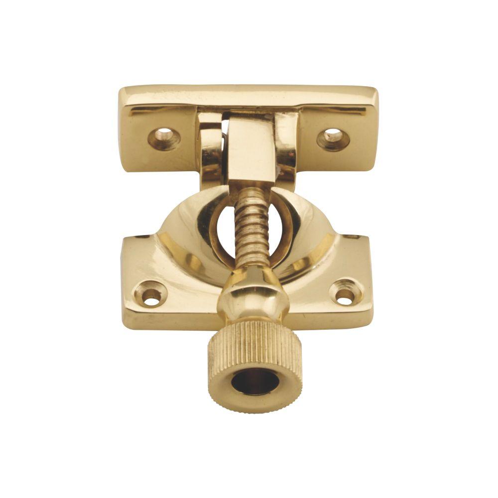 Carlisle Brass Sash Fastener Brighton Pattern Polished Brass 64 x 23mm