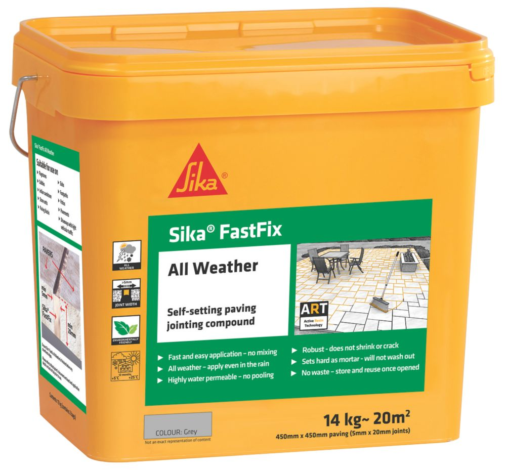 Sika Fast Fix All-Weather Self-Setting Joint Compound Grey 14kg