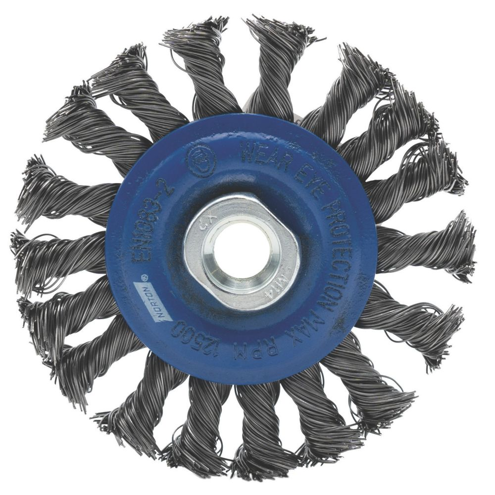 Norton Twisted Knotted Wire Wheel 115mm