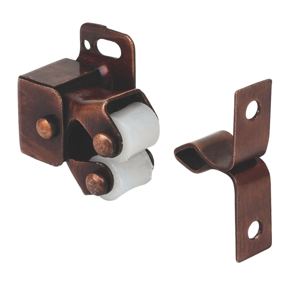 Cabinet Catch Rollers Bronze Effect 32 x 25mm 10 Pack