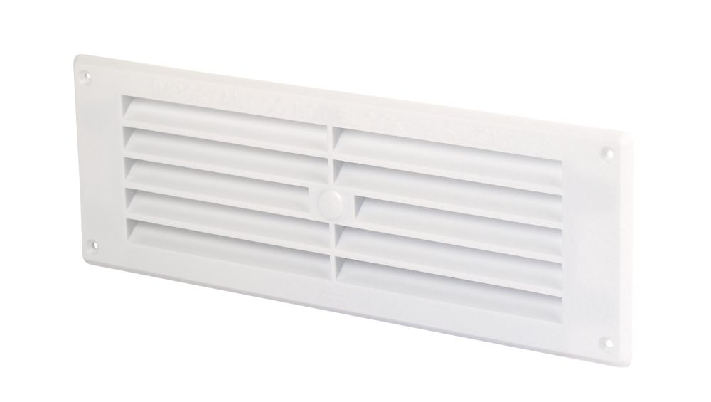 Map Vent Fixed Louvre Vent White 229 x 76mm