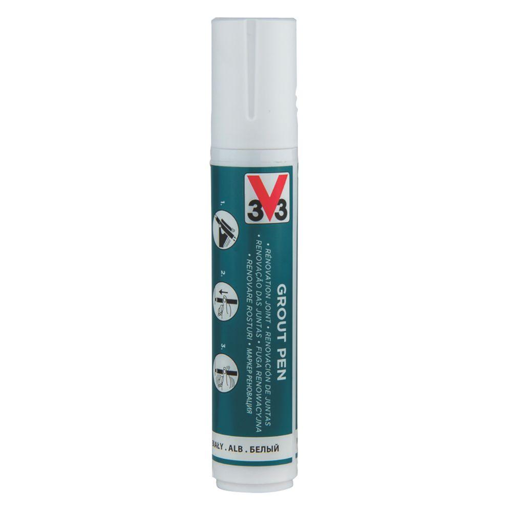 V33  Wall & Floor Grout Pen White 15ml