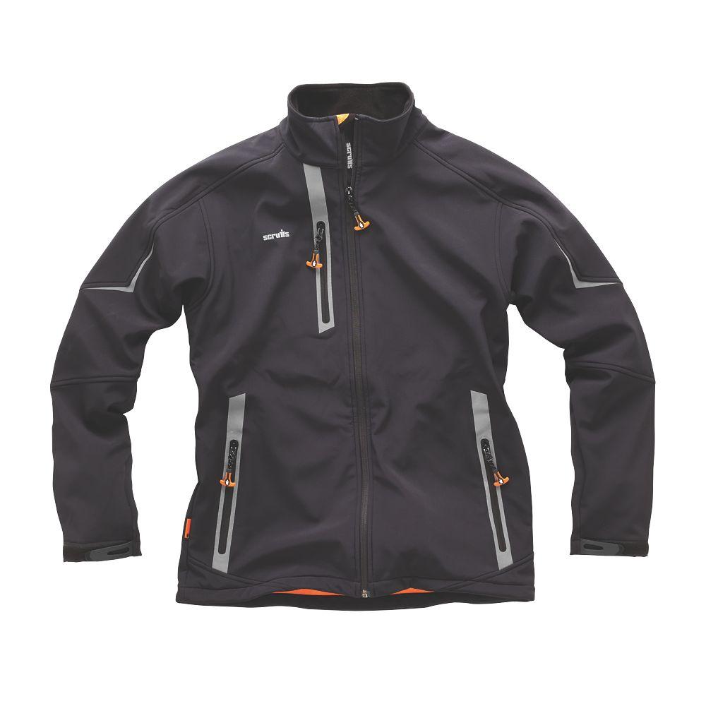"Scruffs Pro Softshell Jacket Black Large 46"" Chest"