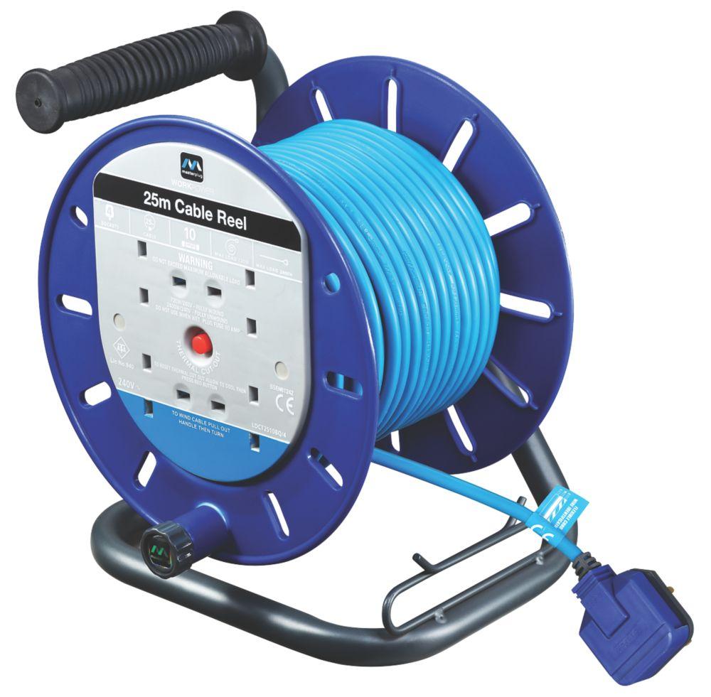 Masterplug LDCT2513BQ/4-XD 13A 4-Gang 25m Cable Reel 240V
