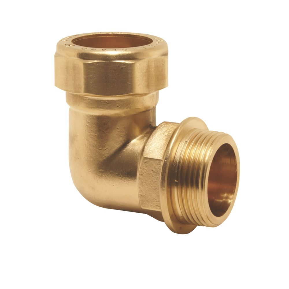 """Pegler PX45 Brass Compression Adapting 90° Male Elbow 22mm x ¾"""""""
