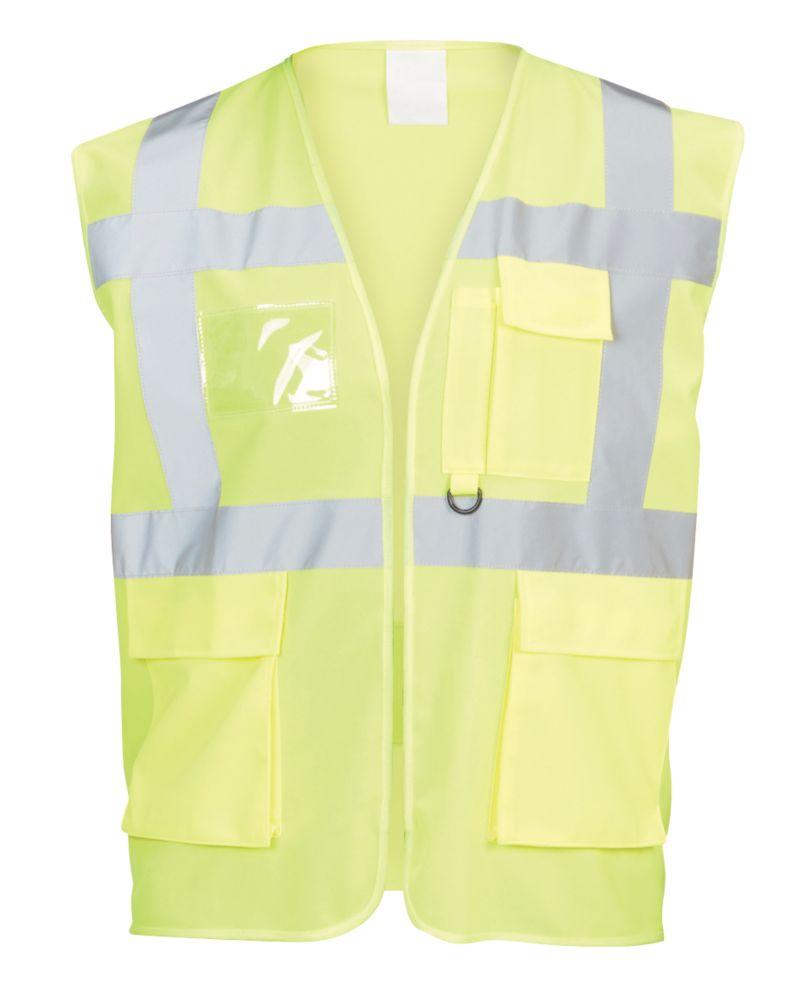 "Hi-Vis Multi-Pocket Waistcoat Yellow Small / Medium 48¾"" Chest"