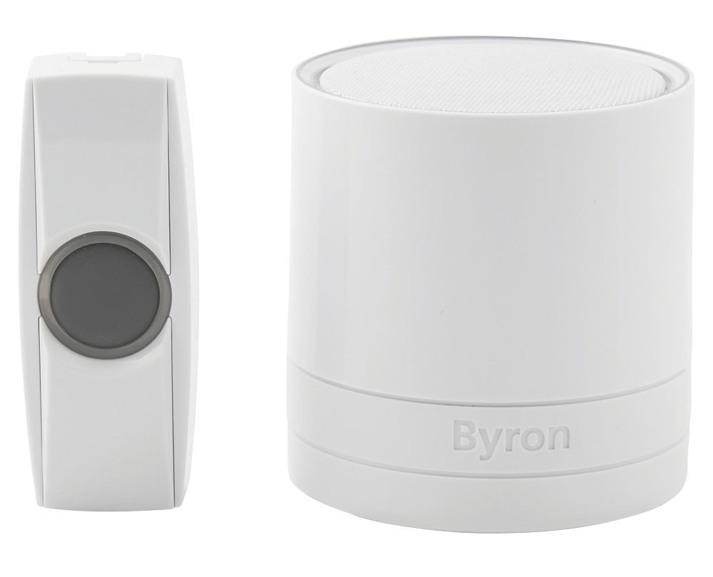 Byron  Battery-Powered Wireless Door Chime White