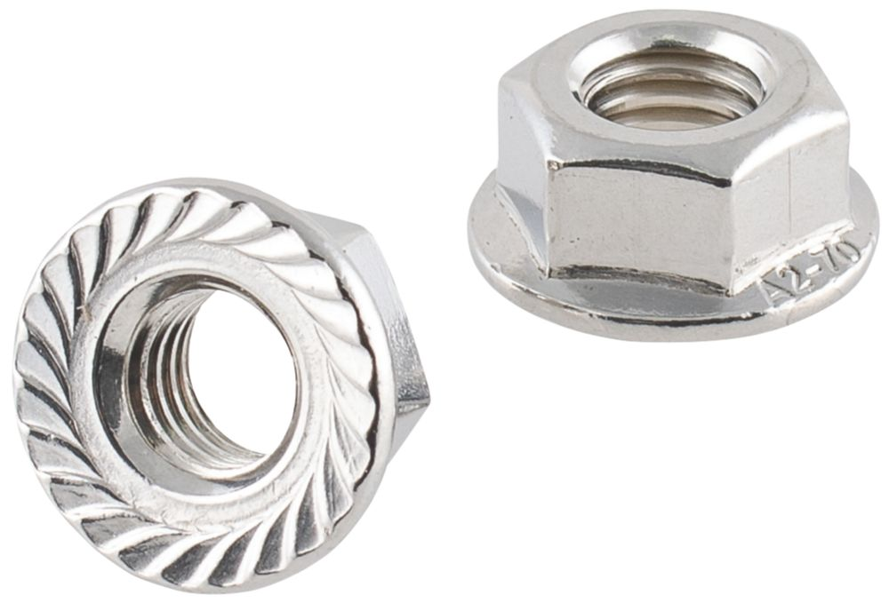 Easyfix A2 Stainless Steel Flange Head Nuts M8 100 Pack