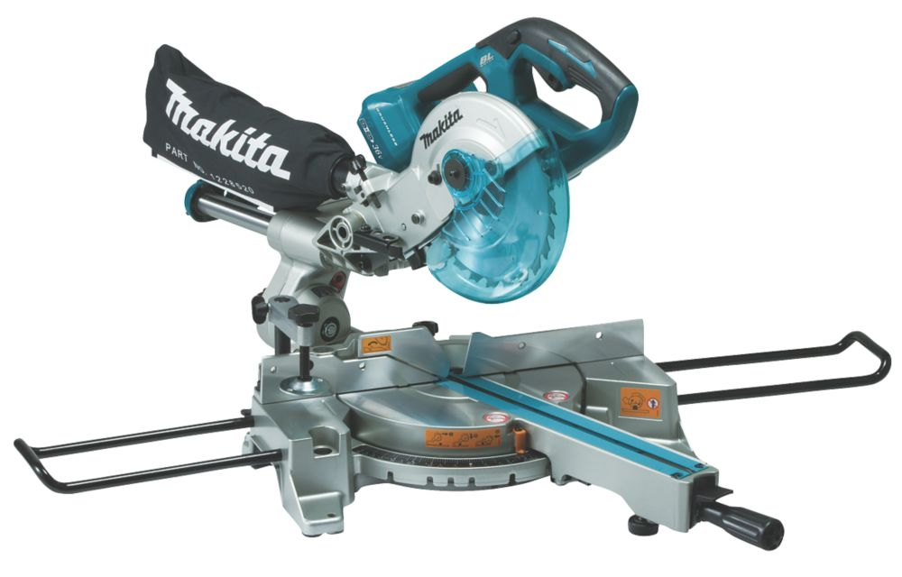 Makita DLS714NZ 190mm Twin 18V Li-Ion LXT Brushless Cordless Single-Bevel Sliding Compound Mitre Saw - Bare