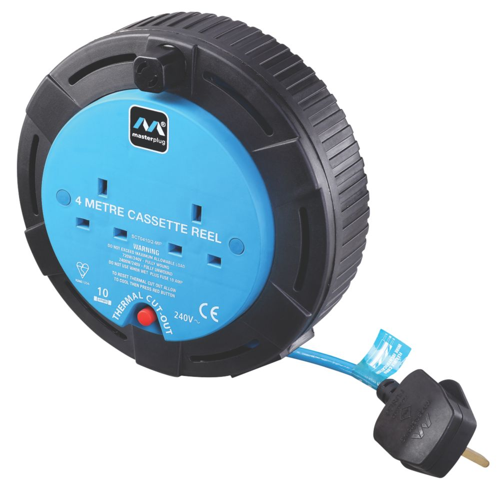 Masterplug SCT0410/2-XD 10A 2-Gang 4m Cable Reel 240V