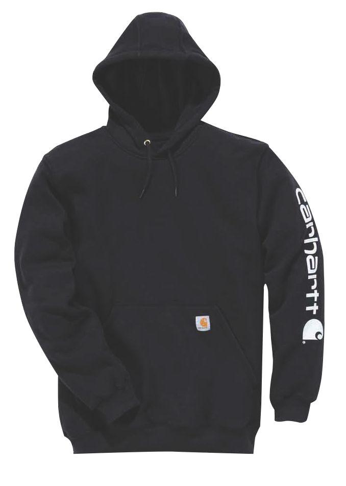 "Carhartt K288 Hooded Sweatshirt Black Large 44"" Chest"