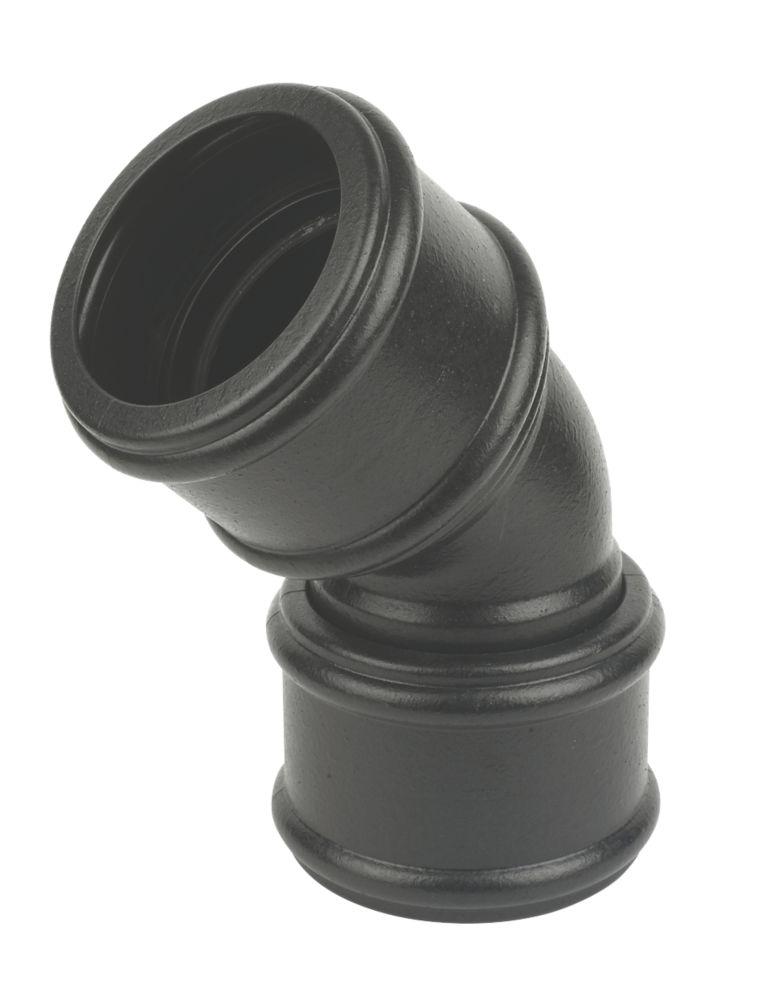 FloPlast  SP563CI 135° Bend (Double Socket) Black 110mm