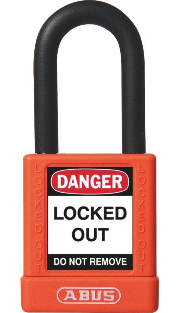 Abus  Aluminium Lock-Off Padlock Orange 19 x 38mm
