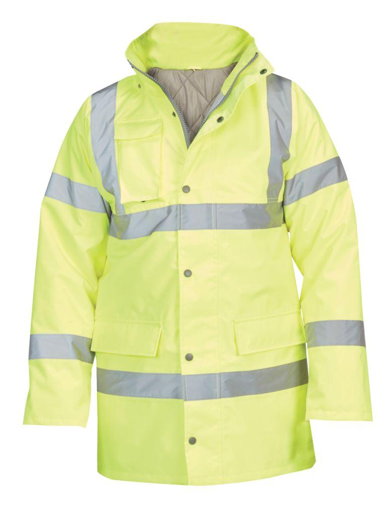 "Hi-Vis Traffic Jacket  Yellow Large 54"" Chest"