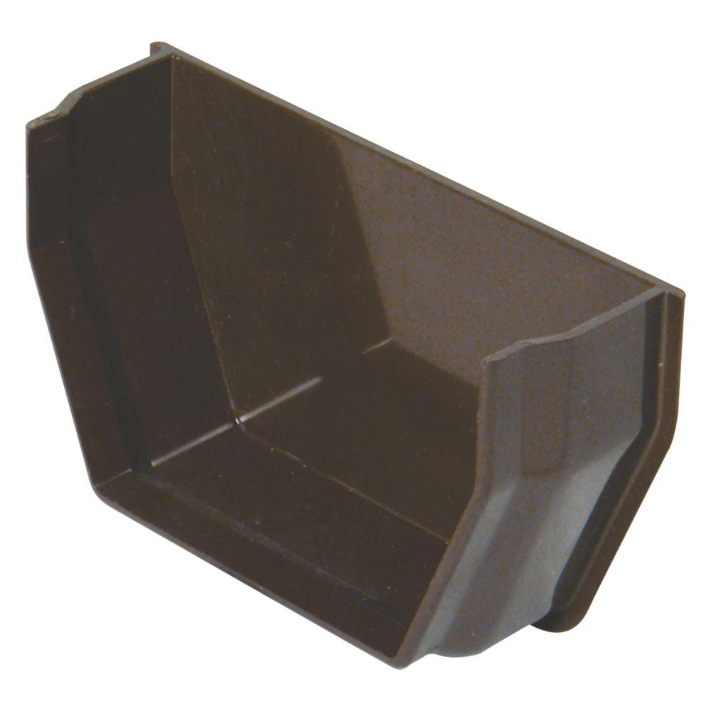 FloPlast Square Internal Stop End 112mm Brown