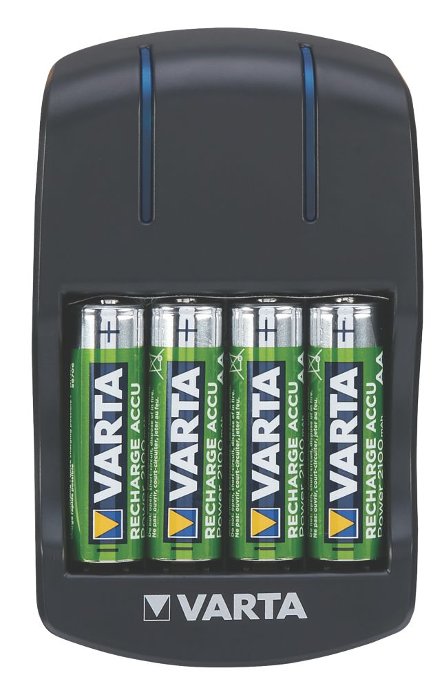 Varta Ready2Use AA Plug Charger with 4 x AA Batteries