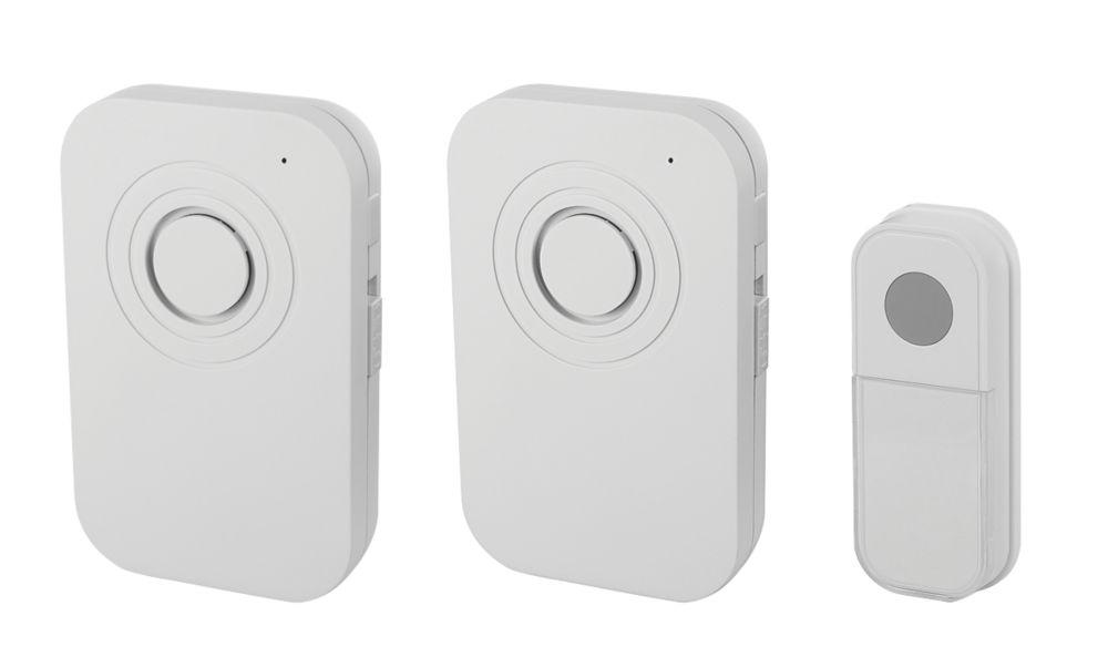 Blyss  Battery-Powered Wireless Door Chime Kit White
