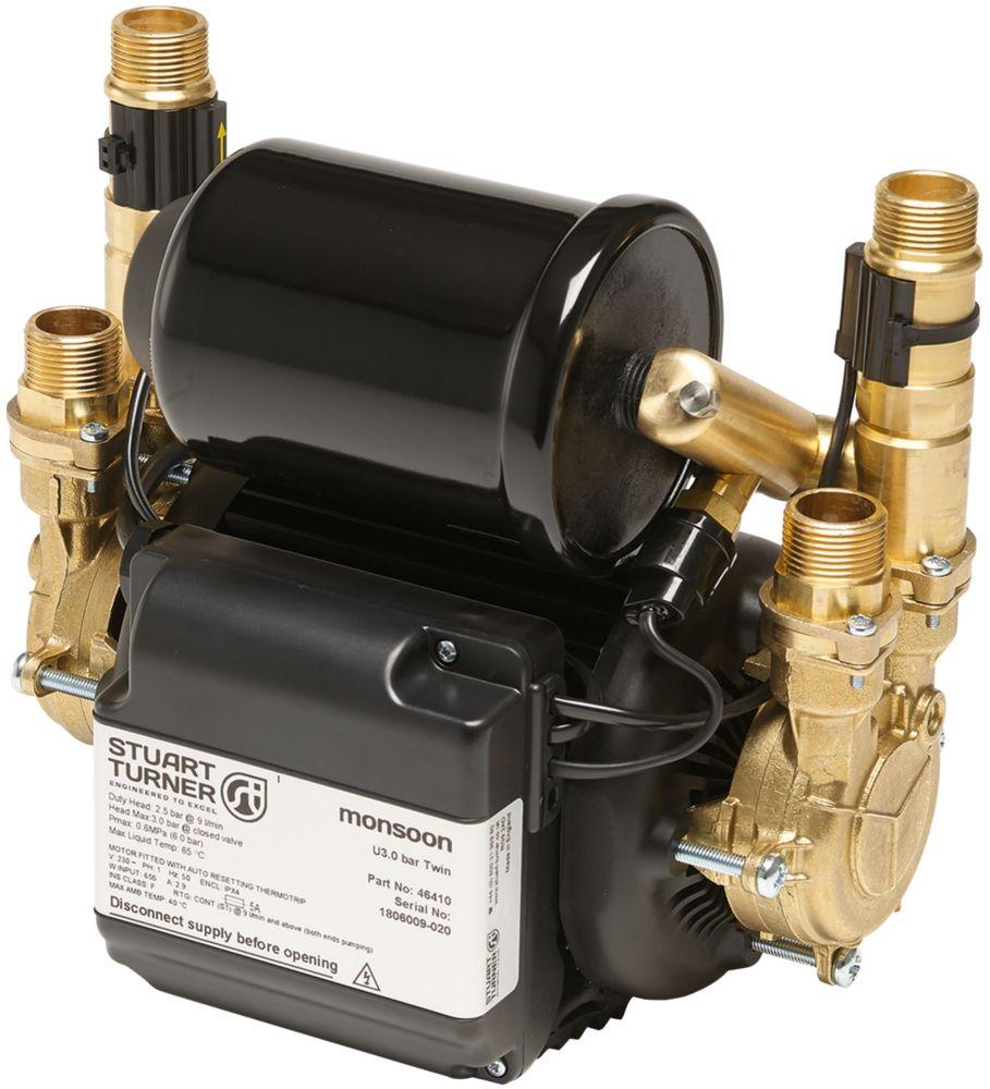 Stuart Turner Monsoon Universal Regenerative Twin Shower Pump 1.5bar