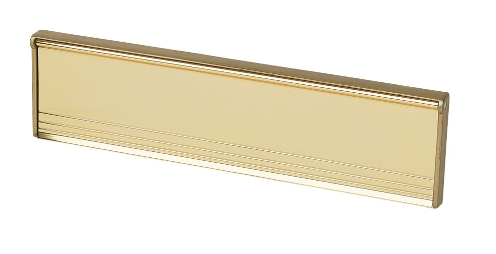 Insulated Letter Plate Gold Effect 292 x 76mm