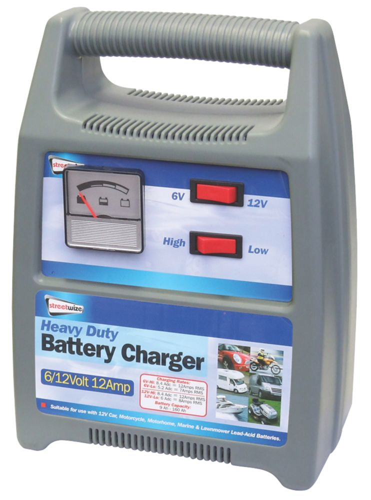 Streetwize SWBCG12 7-12A Battery Charger 6 / 12V