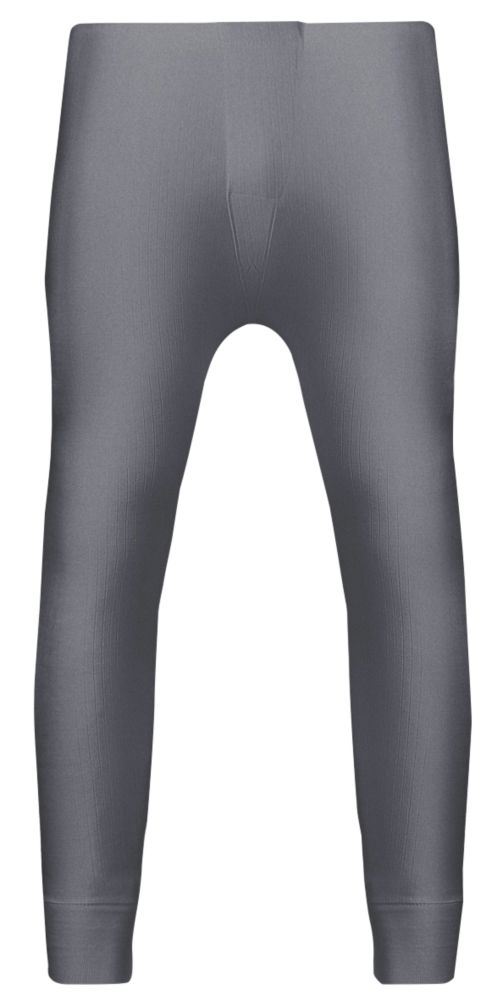 "Workforce  Thermal Baselayer Trousers Grey Medium 33-35"" W 29"" L"