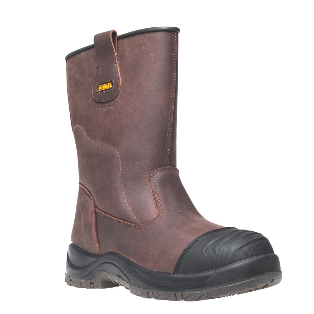 DeWalt Fullerton   Safety Rigger Boots Brown Size 10