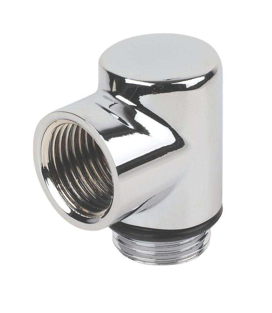 "Brass    Dual Fuel Towel Rail Elbow ½"""