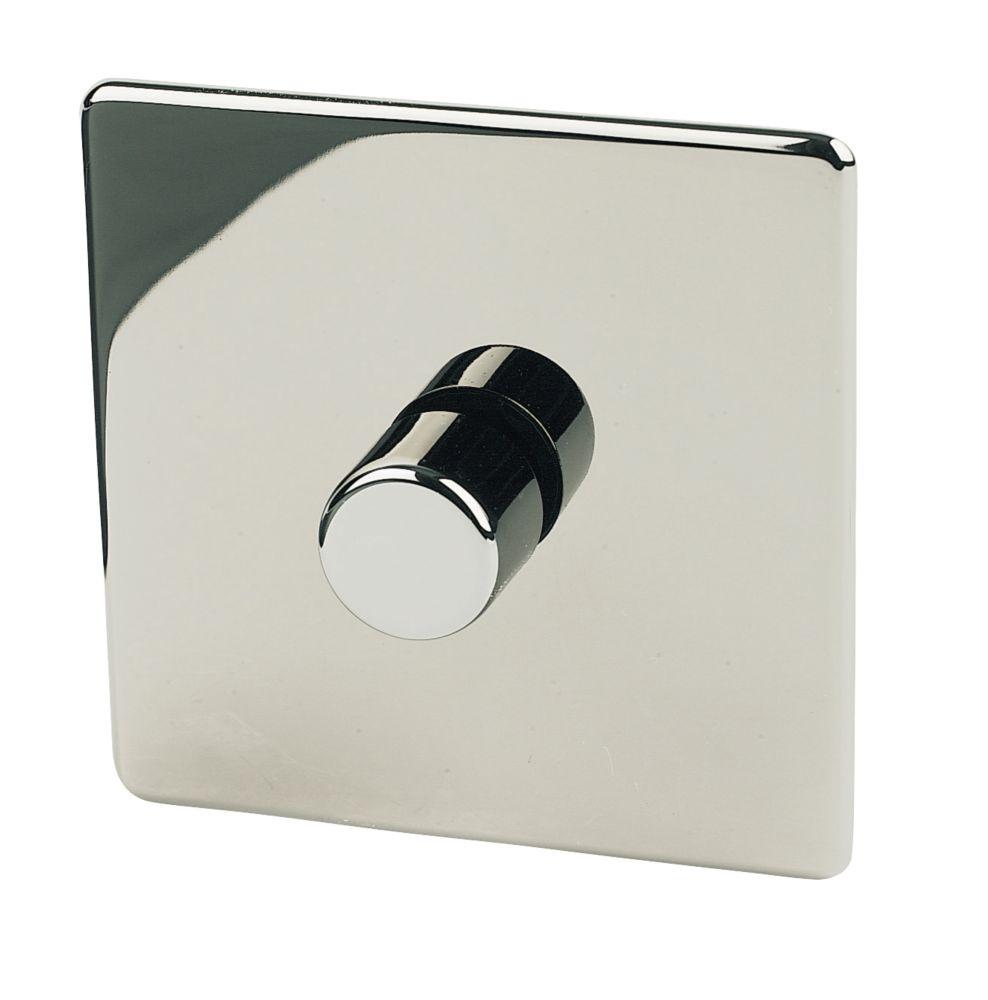 Crabtree Platinum 1-Gang 2-Way  Dimmer Switch  Black Nickel