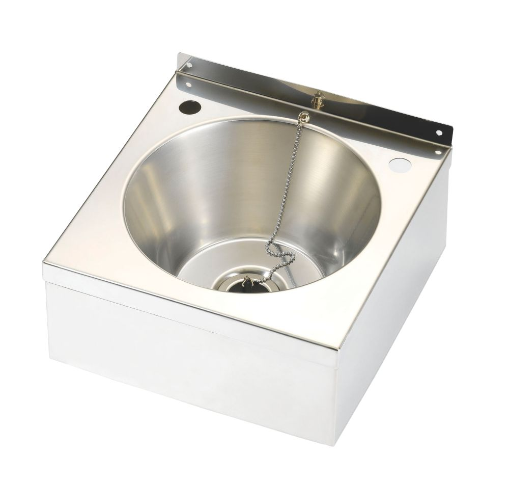 Franke Model A Wall-Hung Wash Basin Stainless Steel 1 Bowl 290 x 290mm