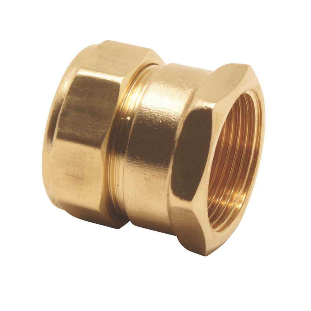 "Pegler PX41 Brass Compression Adapting Female Coupler 15mm x ½"""