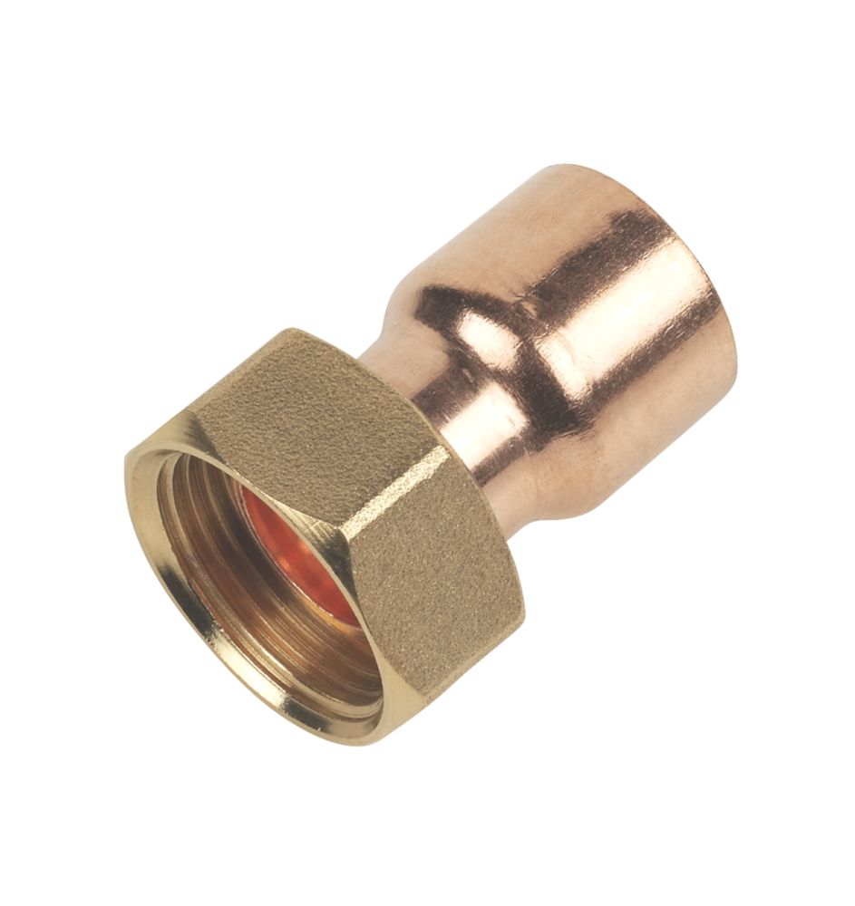 """Flomasta   End Feed Straight Tap Connector 22mm x ¾"""""""
