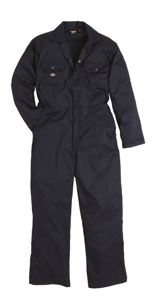 """Dickies  Economy Stud Front Coverall Navy Large 44-46"""" Chest 30"""" L"""