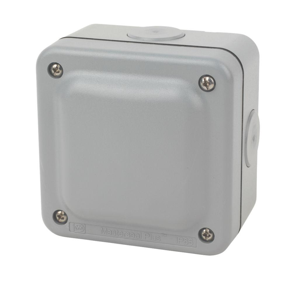 MK  IP66  4-Terminal Weatherproof Outdoor Junction Box 95 x 65 x 95mm